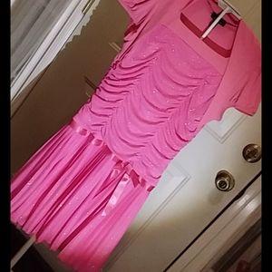 Glittery Pink 👗 Dress Girls 20.5 EUC